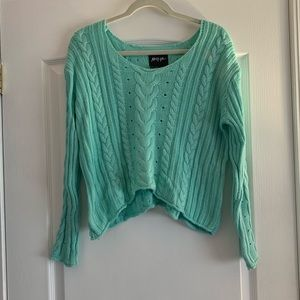 Nasty Gal teal sweater